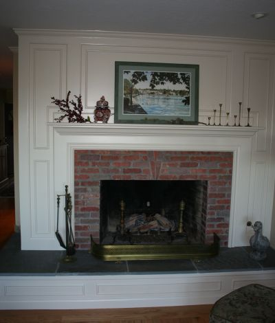 After Brick Fireplace Update - Fireplace Remodeling/Refacing Pictures