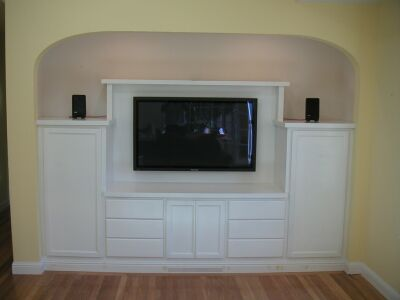 Custom Cabinet In Closet For Plasma TV