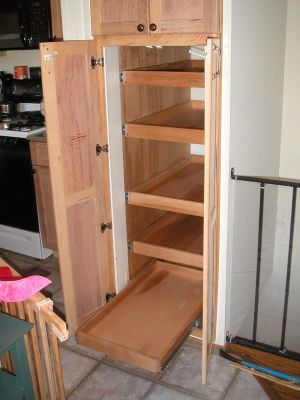 Increased Narrow Kitchen Cabinet Before Narrow Kitchen Cabinet After