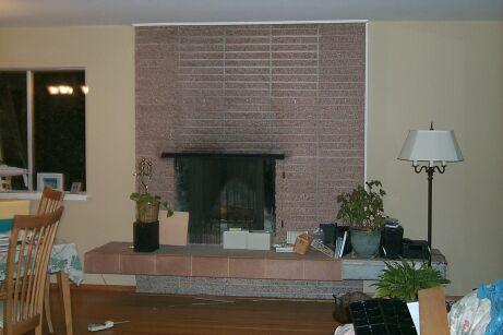 brick mantel fireplace