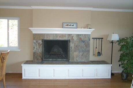 refacing a fireplace with tile. Fireplace Remodel With Slate Tiles Remodeling Refacing Pictures