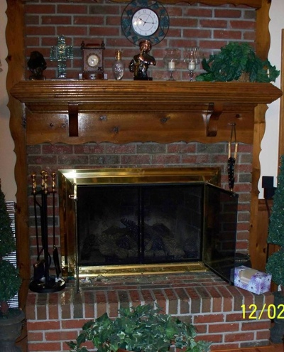 Fireplace Before Remodel