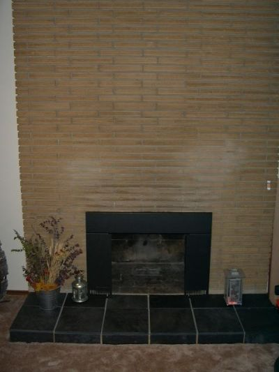Floor to ceiling fireplace before remodel