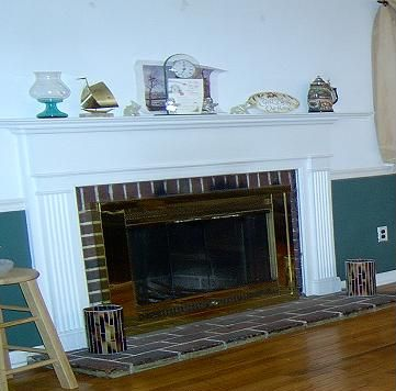 Fireplace Before Refacing