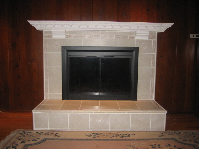 fireplace after remodel - Fireplace Tile Design Ideas