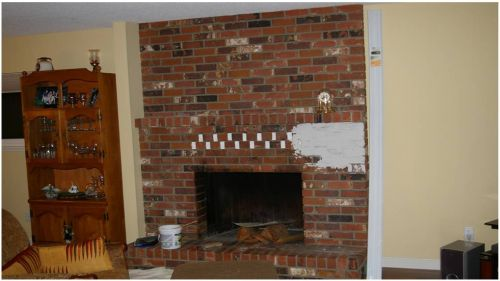 Fireplace Before Remodel - Do It Yourself Fireplace Remodels
